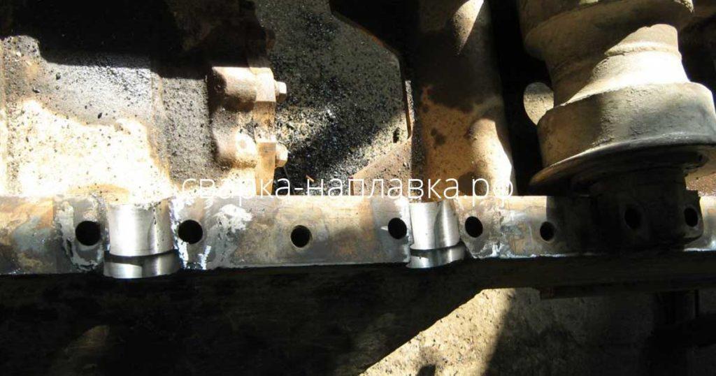 Восстановительный ремонт посадочных мест ходовой части трактора ТТ2501 ЯБР 1