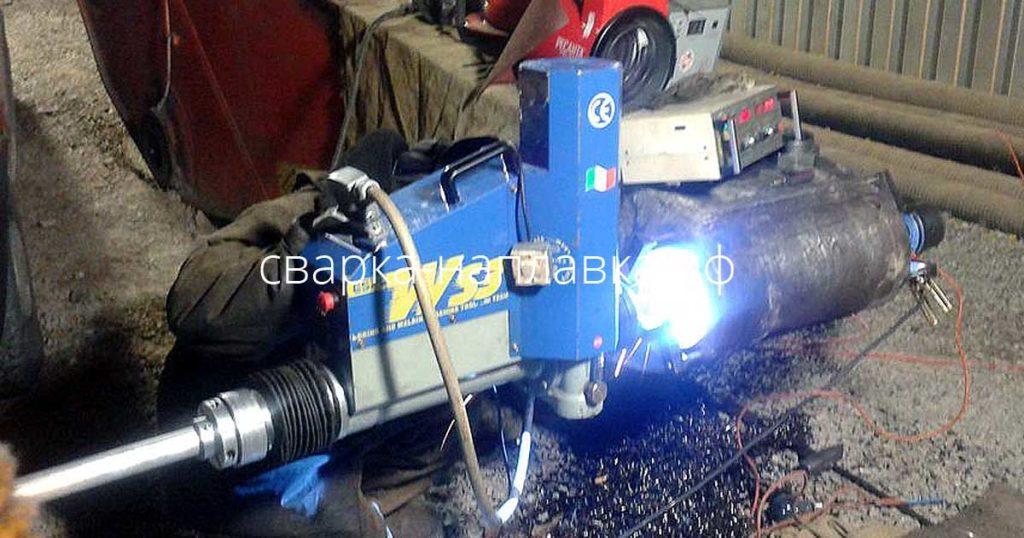 Восстановительный ремонт отверстия рукояти экскаватора расточно-наплавочным комплексом