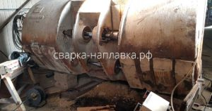 Расточка перед наплавкой проушины ковша САТ 1700