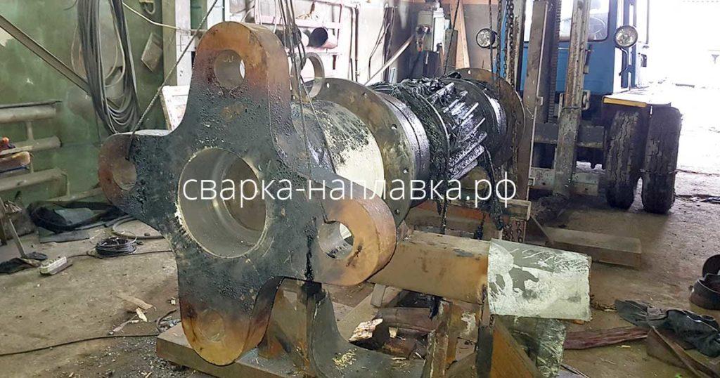 Монтаж полумуфты на электродвигатель шаровой мельницы