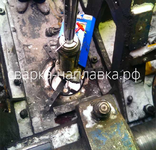 Ремонт посадочного места центральной цапфы экскаватора ЭКГ 5А